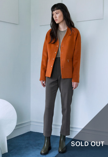ALPACA V-NECK JACKET(ORANGE)