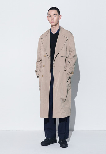 PATCH-POCKET TRENCH COAT(BEIGE)