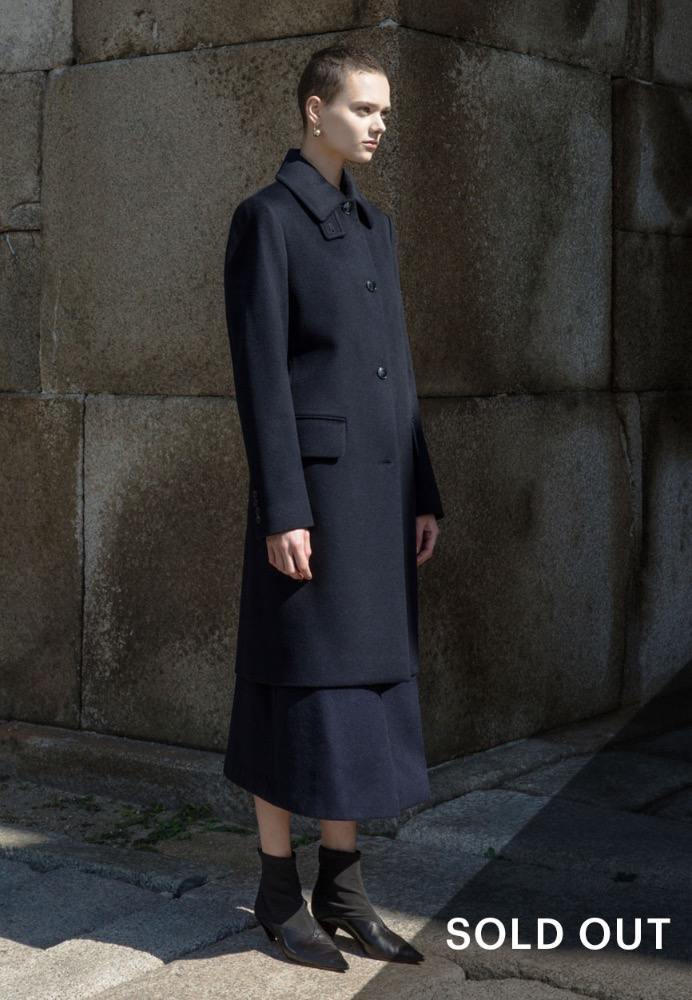 CASHMERE COAT(DARK NAVY)