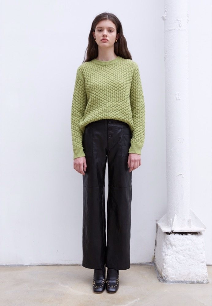 CASHMERE-BLEND SWEATER(OLIVE)