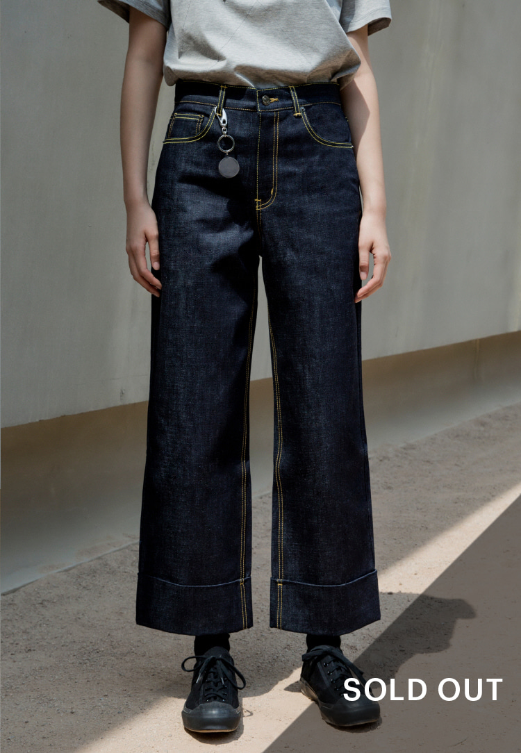 SEMI WIDE DENIM PANTS(DENIM)