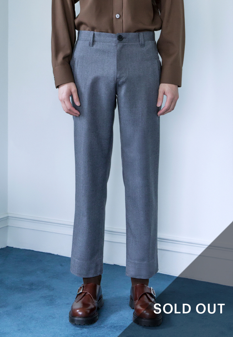 WOOL PANTS(GRAY)