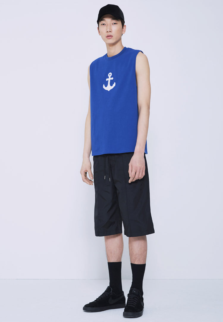 ANCHOR SLEEVELESS(BLUE)