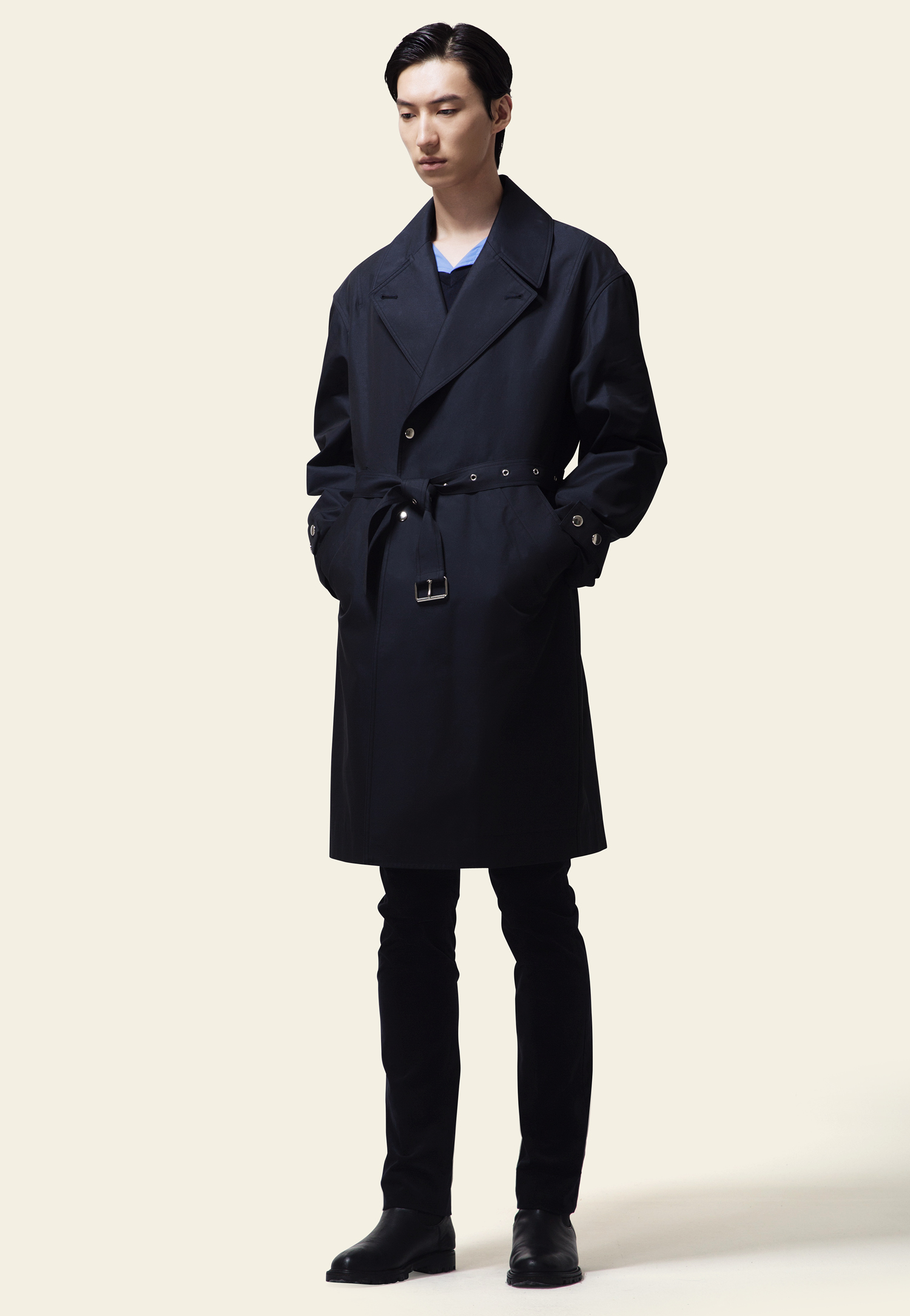 TRENCH COAT(NAVY)