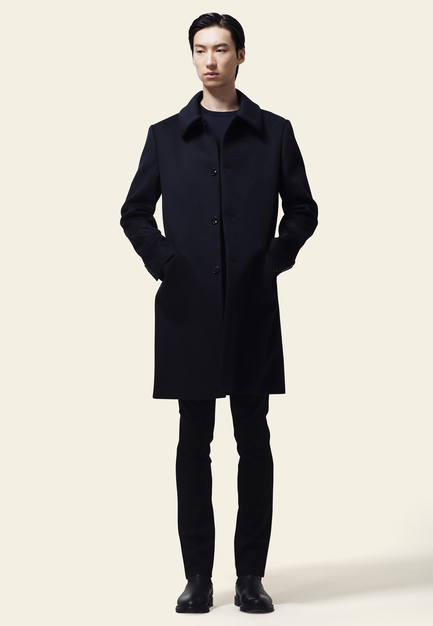 CASHMERE COAT(NAVY)