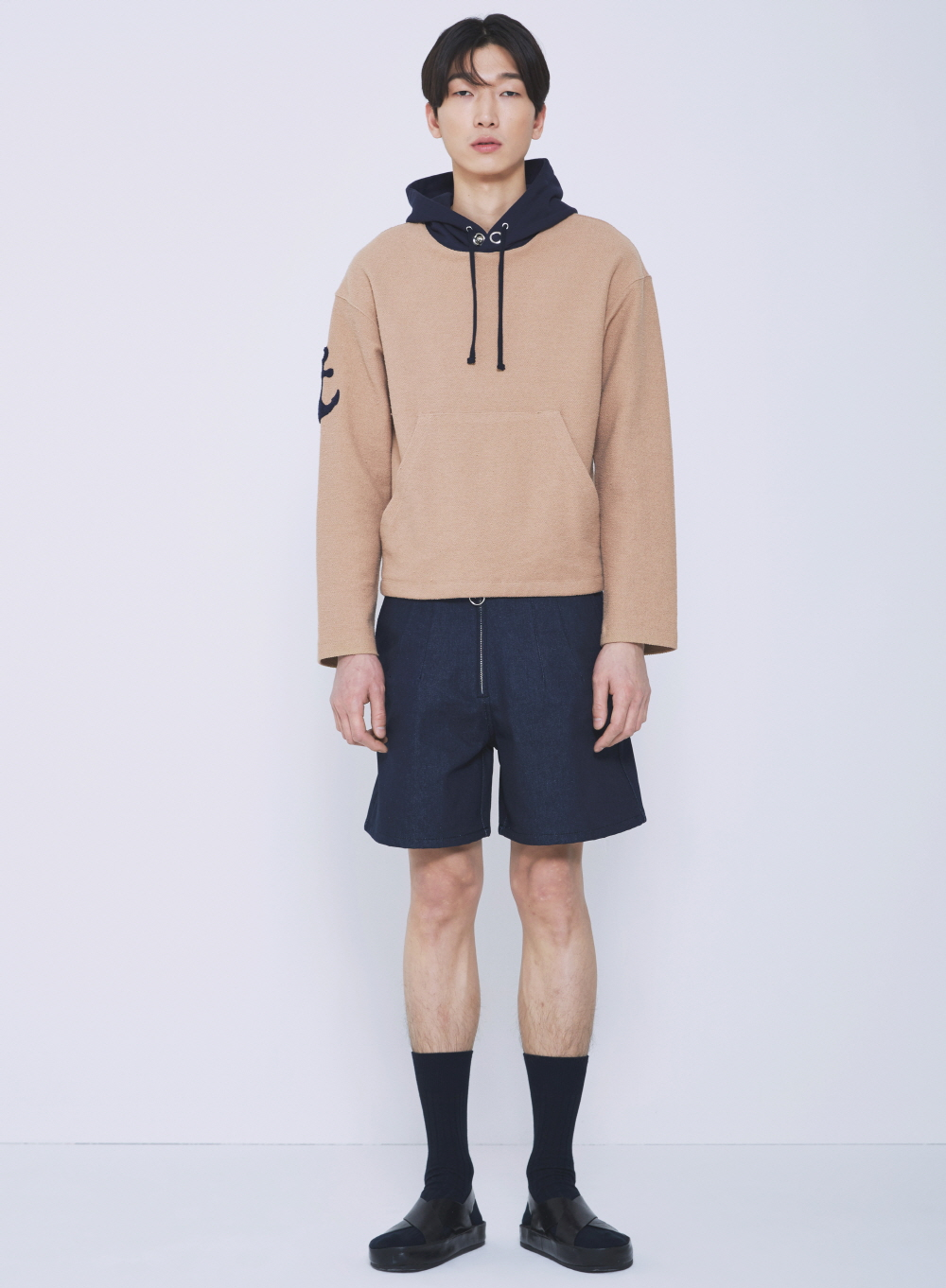 ANCHOR HOODY T-SHIRTS(BEIGE)