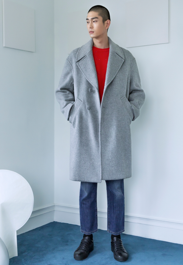 OVERSIZE COAT(LIGHT GRAY)