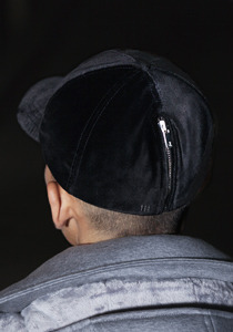 ZIPPER CAP(BLACK)